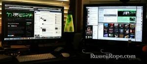 RRP Dual Monitor Desktop Setup