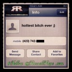 "Got digits from ""hottest bitch ever"" last night. #LoL"