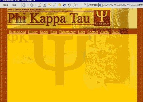 PKT Psi Chapter Website
