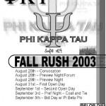 Rush Flyer 2003