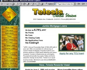 Telesis Credit Union Website