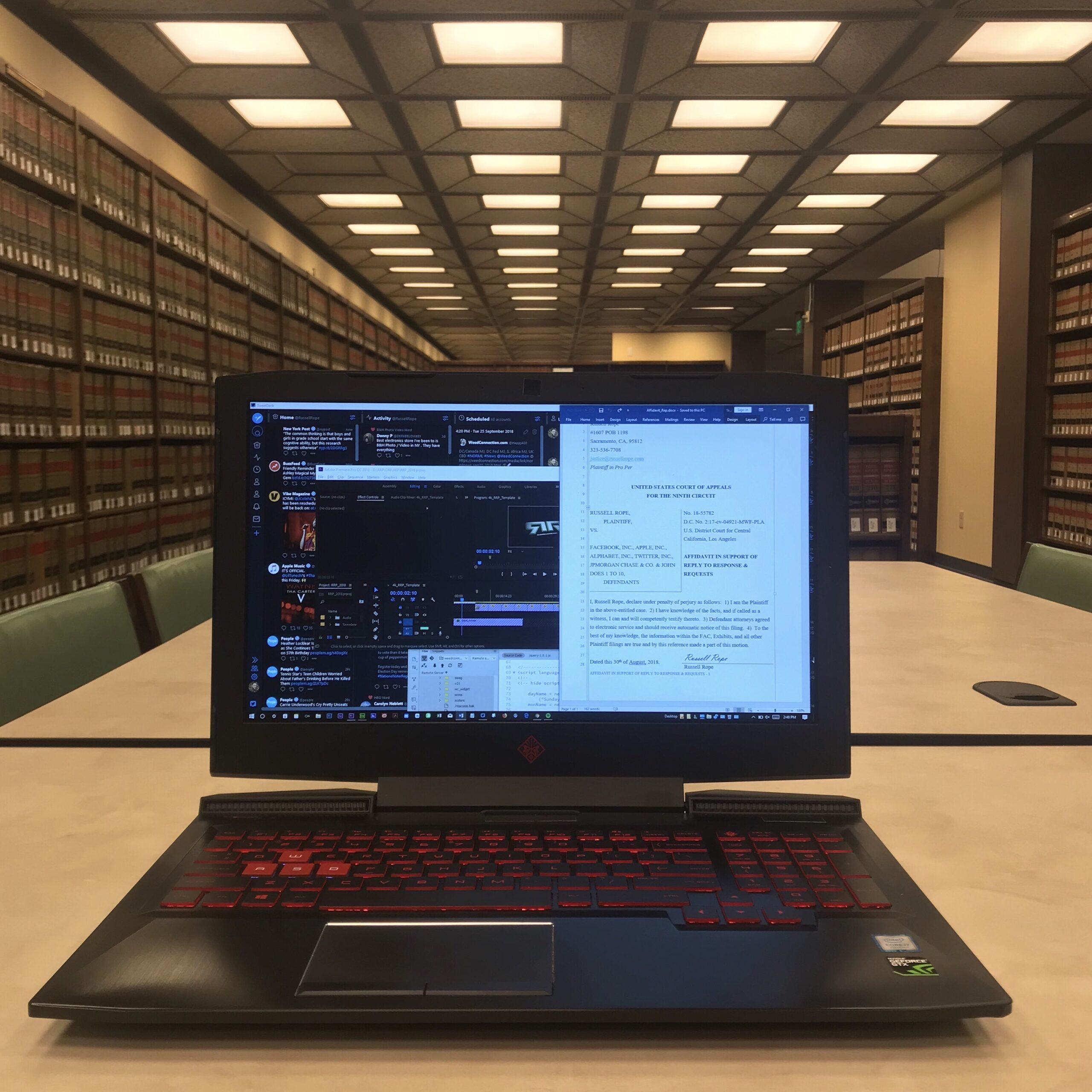 #DTLA #LawLibrary @RussellRope